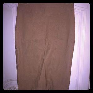 Cute forever 21 tan/light brown pencil skirt